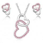 Комплект Сърца розе